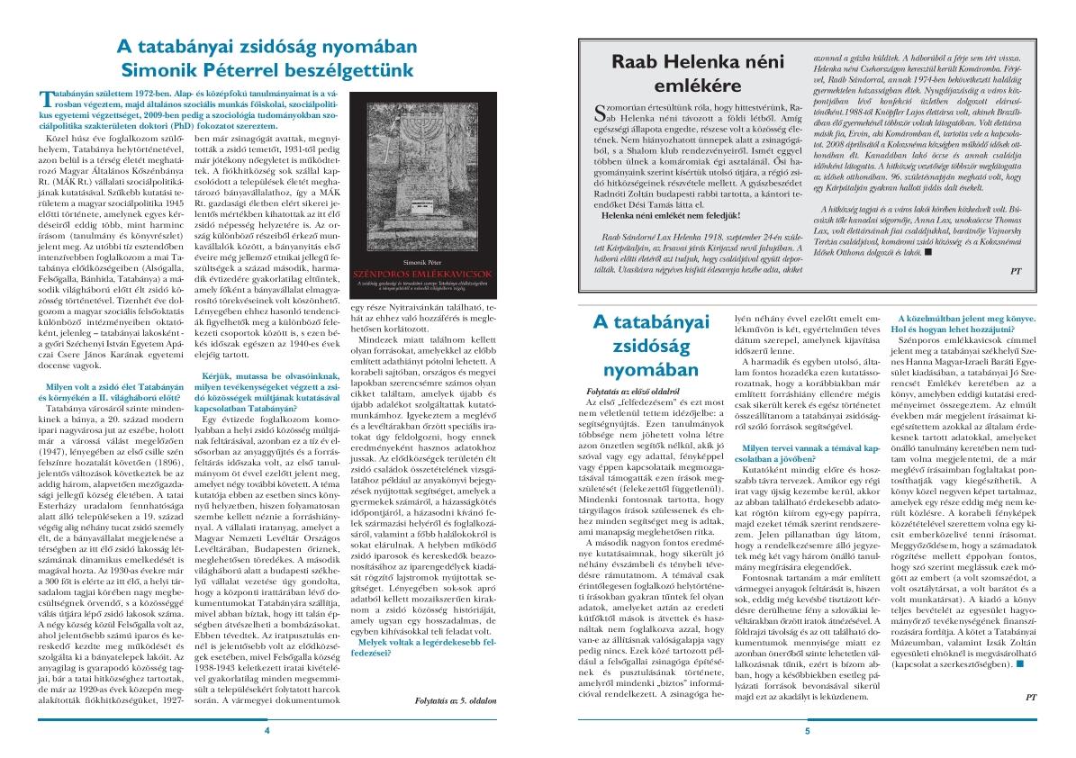 Hitközségi Híradó 2017. március 4-5. oldal